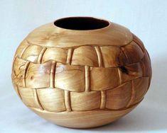Basket Weave Carved Bowl