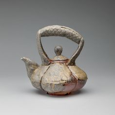 Teapot by Scott Parady // Ceramics / Anagama Wood-Fired Stoneware / 10 x 9 x 8 inches