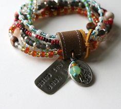 Let Your Light ShineStatement Bracelet by rebeccasower on Etsy, $60.00