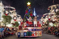"""If there ever was a merry sight that could instantly fill you with holiday joy, it's """"Mickey's Once Upon a Christmastime Parade."""""""