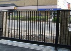Ground Track Sliding Gates - automatic groundtrack sliding gates by Avon Barrier Co Automatic Sliding Gate, Gates, Avon, Track, Home Appliances, Metalworking, House Appliances, Runway, Truck