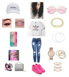 """UPDATED 6-6-17 ❣💚📍"" by angel-magwood on Polyvore featuring adidas, NIKE, Givenchy, Lancôme, Casetify, Allison Bryan, Michael Kors, House of Harlow 1960, ABS by Allen Schwartz and Accessorize"