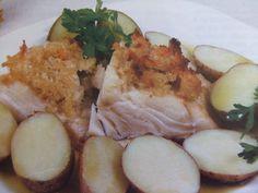 Bacalao con costra al horno Ver receta: http://www.mis-recetas.org/recetas/show/33147-bacalao-con-costra-al-horno
