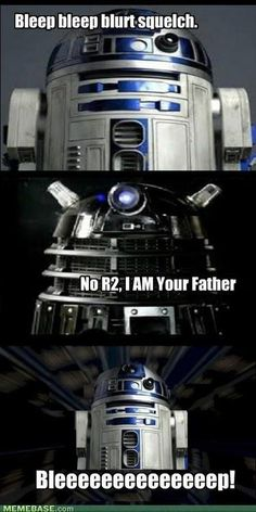 i LOVE Star Wars and Doctor Who, but together it is perfection! im a sci-fi nerd lol