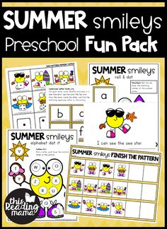 Printable Preschool Packs - FUN Packs for Learning - This Reading Mama Alphabet Activities, Hands On Activities, Summer Activities, Toddler Activities, Learning Activities, Preschool Printables, Preschool Learning, Kids Learning, Free Printables