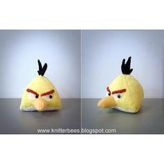 Free Knitting Pattern - Toys, Dolls & Stuff Animals: Yellow Bird Plush Toy