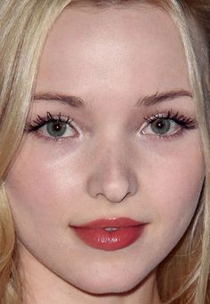 Close-up of Dove Cameron at the 2015 Thirst Gala. http://beautyeditor.ca/2015/07/04/best-celebrity-beauty-looks-emilia-clarke