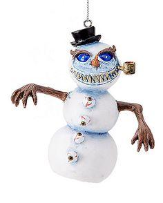 Evil Snowman Christmas Ornament - Spirithalloween.com