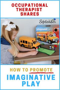 How to Promote Imaginative Play: Occupational Therapist Approved - Simply September Parenting Win, Parenting Advice, Playmobil Toys, Family Deal, Occupational Therapist, Parent Resources, Tot School, Creative Teaching, Imaginative Play