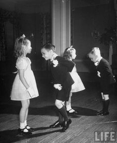 May I have this dance, Mademoiselle?  Children in ballroom dancing class  by Alfred Eisenstaedt,1945