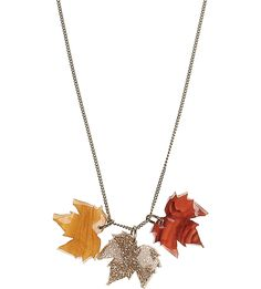 Channel autumnal elegance in Tatty Devine's Fallen Leaves necklace. Featuring various materials laser cut into leaves, the necklace makes a brilliant statement piece for any season. Fallen Leaves, Autumn Leaves, Devine Love, Tatty Devine, Cozy Scarf, Body Adornment, Halloween Coloring, Leaf Necklace, Jewellery Project