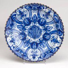 Delft Blue Plate. 17th century.