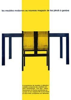 The New Modern Furniture Store Teo Jakob, Geneva 1957