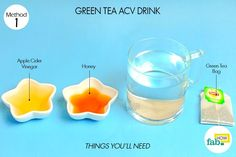 Use ACV in green tea for healthy weight loss