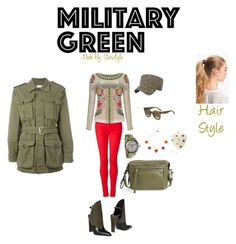 Designer Clothes, Shoes & Bags for Women Temperley, Character Outfits, Military Green, Polyvore Fashion, Marc Jacobs, Tommy Hilfiger, Yves Saint Laurent, Alexander Wang, Style Inspiration