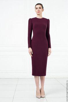 2e32715d144 Платья ручной работы. Ярмарка Мастеров - ручная работа. Купить Платье из  шерстяного крепа цвета