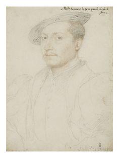 Portrait de François de Clèves, duc de Nevers (1516-1561) reproduction procédé giclée par Jean Clouet sur AllPosters.fr