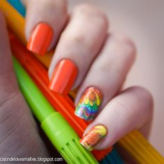 Nail art fractales - Decals o tatuajes Born Pretty Store