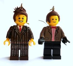 Doctor Who Earrings Ten & Eleven Lego by emmivisser on Etsy, $18.95- I just LOVE these!!