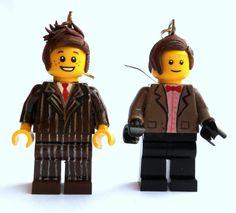 Doctor Who Earrings: Ten & Eleven on Etsy, $24.95