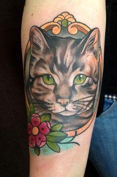 4223b1a488282 Tattoo by Steffi Boecker at Straight Ink in Brandenburg, Germany. Cat Face  Tattoos,