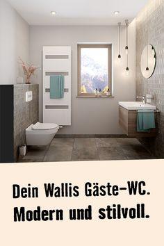 Rundum wohlfühlen. Das kannst Du mit dem Traumbad Wallis. Hier geht's zum Sortiment. Wallis, Alcove, Bath Mat, Bathtub, Bathroom, Home Decor, Guest Toilet, Flooring Tiles, Floor Layout