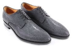 Handmade Luxury Stingray Fashion Shoes Genuine Stingray Skin Upper Lamb Skin Liner Goodyear welt Leather Sole Channel Stitching The ultimate statement shoes! Fashion Shoes, Men's Fashion, Goodyear Welt, Lamb, Derby, Stitching, Oxford Shoes, Channel, Dress Shoes