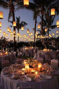 Wedding lights, wedding on the beach, outdoor wedding locations, summer wed Beach Wedding Reception, Beach Wedding Decorations, Wedding Night, Wedding Themes, Wedding Centerpieces, Wedding Table, Dream Wedding, Wedding Ideas, Night Beach Weddings
