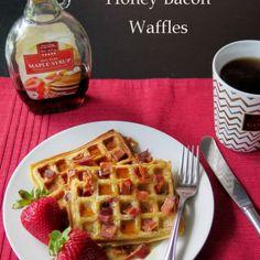 Honey #Bacon Waffles #recipe via Cindy's Recipes & Writings http://www.yummly.com/recipe/Honey-Bacon-Waffles-1297089