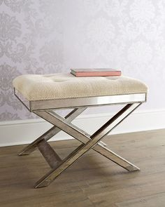 Lila+Mirrored+X+Stool+at+Horchow.