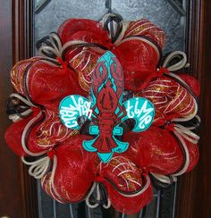 Its Crawfish Time Fleur De Crawfish Deco Mesh by FreckleFaceCrafts, $57.00