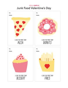 Junk Food Valentine's Day Cards from Real Simple | These clever designs are far from your average Valentine.