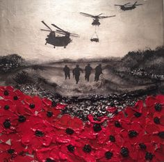 "Memorial Day Lest We Forget ""Remembered By Day And By Night"" By Jacqueline Hurley War Poppy Collection No.12 Remembrance Day is every day Freedom is never free"