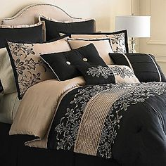 New Enchanted Toile Full French Country Prim Linen Black