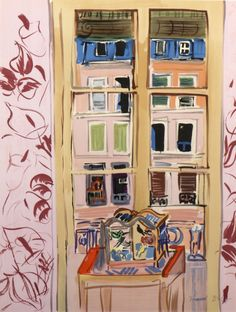 """amare-habeo: """" Raoul Dufy (French, 1877 - 1953) Window at street (Fenêtr sur rue), N/D """""""