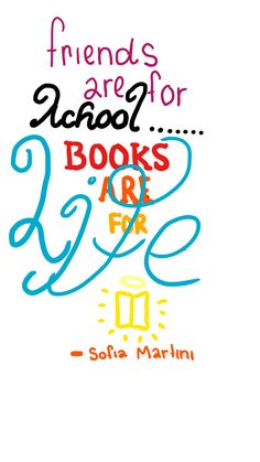 Friends are for school. Books are for life. #onlyfortheseriousreaders #lovereading #booklovers #lovereading