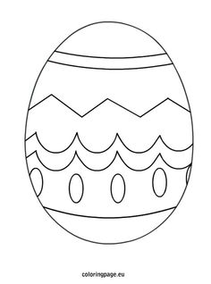 printable full page large egg pattern. use the pattern for crafts ... - Easter Egg Coloring Page Template