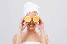 Lemon for your beauty and health! stock photo