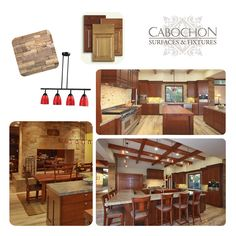 Kitchen inspiration board, to learn more about materials visit cabochontile.com