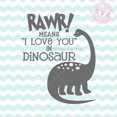 Rawr means I love you in Dinosaur SVG Vector/ Dinosaur Nursery art/ DXF/ EPS/ png/ Vinyl Cutter clip art/ Silhouette/ Cricut Dinosaur Wall Decals, Dinosaur Nursery, Dinosaur Party, Plotter Silhouette Cameo, Cricut Svg Files Free, Freebies, Cricut Creations, New Crafts, Craft Sale