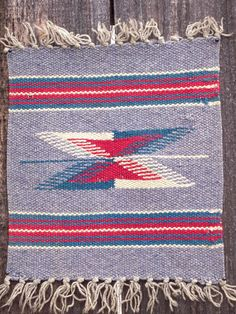 Vintage Chimayo Small Woven Rug, New Mexican Weaving, Wall Hanging, Mexican, Pre-WWII. $ 15.00, via Etsy.