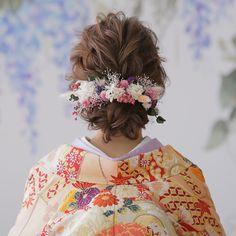 Wedding Veil, Diy Wedding, Cute Hairstyles, Wedding Hairstyles, Traditional Fashion, Kimono Fashion, Bridal Hair, Wedding Styles, Best Day Ever