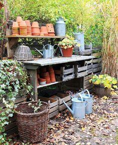 Wat een heerlijke plek voor in de tuin