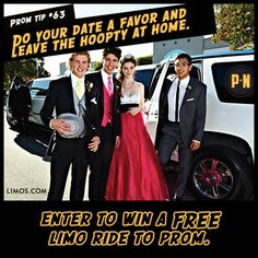 #PromNation tip #63: Enter to win a free #limo ride to #prom.