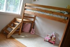 Diy Bunk Bed Plans Amazing Design With Pictures Of Diy Loft Bed Plans Loft Bed Stairs, Build A Loft Bed, Loft Bed Plans, Bunk Beds With Stairs, Murphy Bed Plans, Cool Bunk Beds, Kids Bunk Beds, Loft Beds, Diy Bed Loft