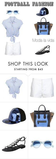 """""""Football fashion outfit..."""" by sebolita ❤ liked on Polyvore featuring Forever New, Marni, Super D, Fendi, Cutler and Gross, women's clothing, women, female, woman and misses"""