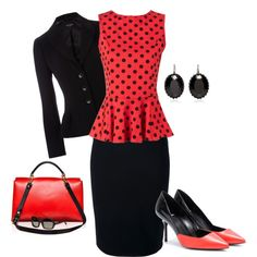 """""""Black and Red"""" by iris-ireland on Polyvore"""