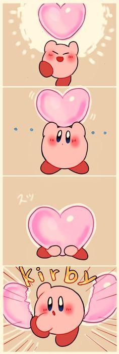 kirby broken-hearts a heart