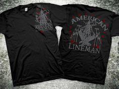 American lineman- lineman shirts Lineman Love, Lineman Shirts, Nike Jacket, Hoodies, American, Tees, Long Sleeve, Fitness, How To Wear