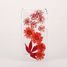 Handmade pressed flower phone case for iPhone or Samsung, made from real pressed flowers.  Please note as these cases are made from real flowers, there may be slight variations to the case shown in the image.
